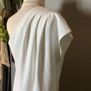 Alice & Olivia Dresses - Alice + Olivia Off White Melina Asymmetrical Dress